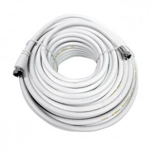 Cable coaxial blanco